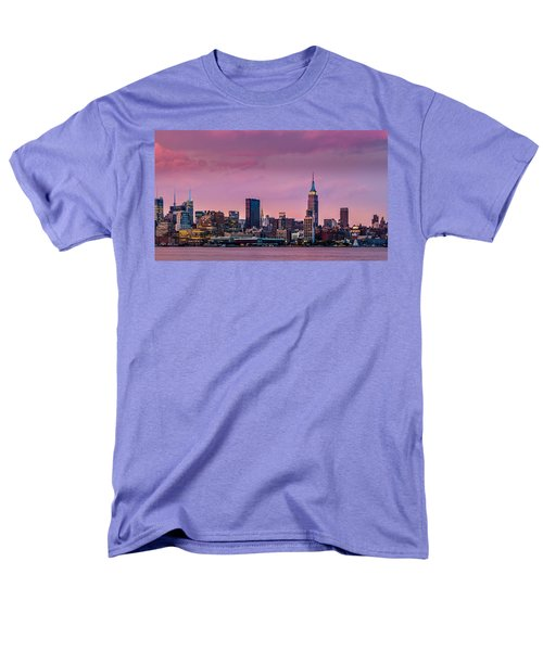 Men's T-Shirt  (Regular Fit) featuring the photograph Purple City by Mihai Andritoiu