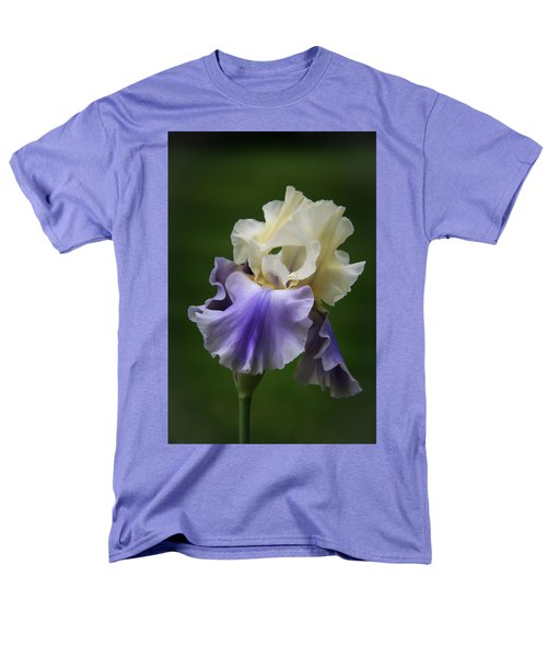 Men's T-Shirt  (Regular Fit) featuring the photograph Purple Cream Bearded Iris by Patti Deters