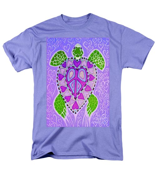 Purple Heart Turtle Men's T-Shirt  (Regular Fit) by Nick Gustafson