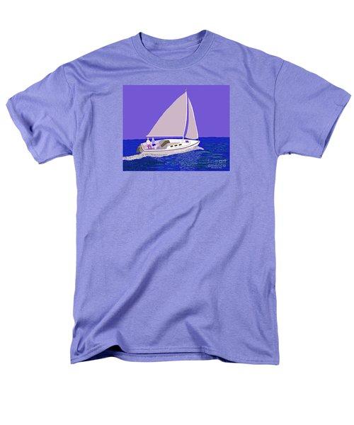 Sailing Blue Ocean Men's T-Shirt  (Regular Fit) by Fred Jinkins