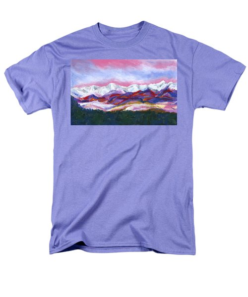 Men's T-Shirt  (Regular Fit) featuring the painting Sangre De Cristo Mountains by Stephen Anderson
