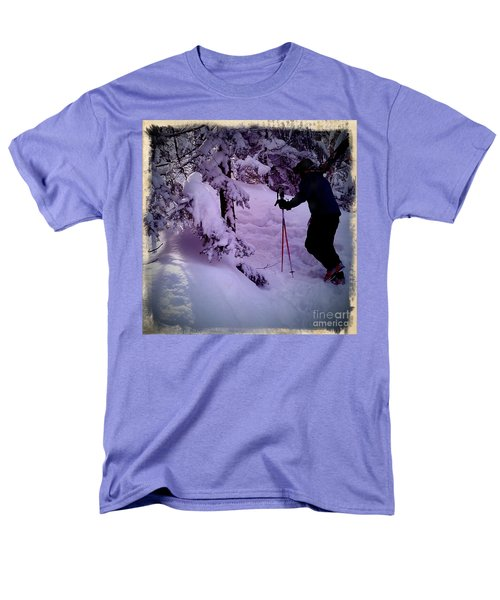 Men's T-Shirt  (Regular Fit) featuring the photograph Searching For Powder by James Aiken