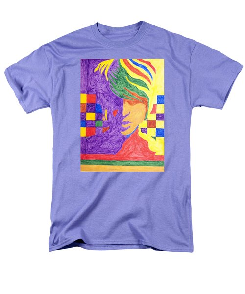 Men's T-Shirt  (Regular Fit) featuring the painting Prince Gemini   by Stormm Bradshaw