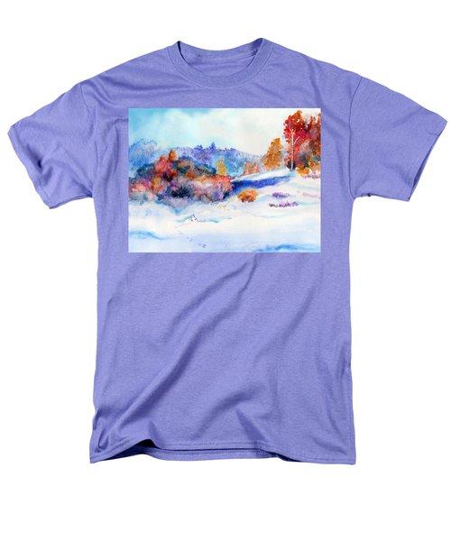Snowshoe Day Men's T-Shirt  (Regular Fit) by C Sitton