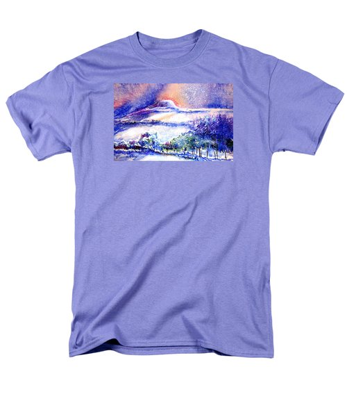 Men's T-Shirt  (Regular Fit) featuring the painting Snowstorm Over Eagle Hill Hacketstown  by Trudi Doyle