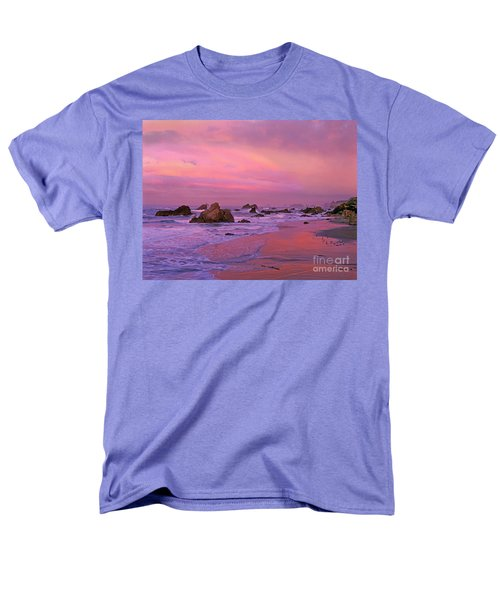 Men's T-Shirt  (Regular Fit) featuring the photograph Sunrise On Sea Stacks Harris Sb Oregon by Dave Welling