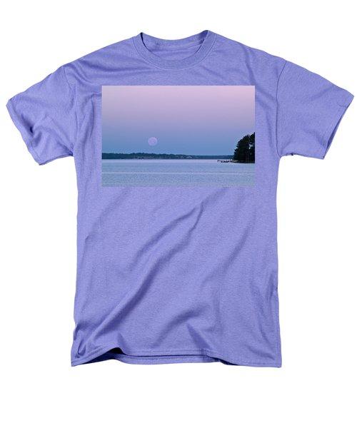 Super Moon Setting-1 Men's T-Shirt  (Regular Fit) by Charles Hite