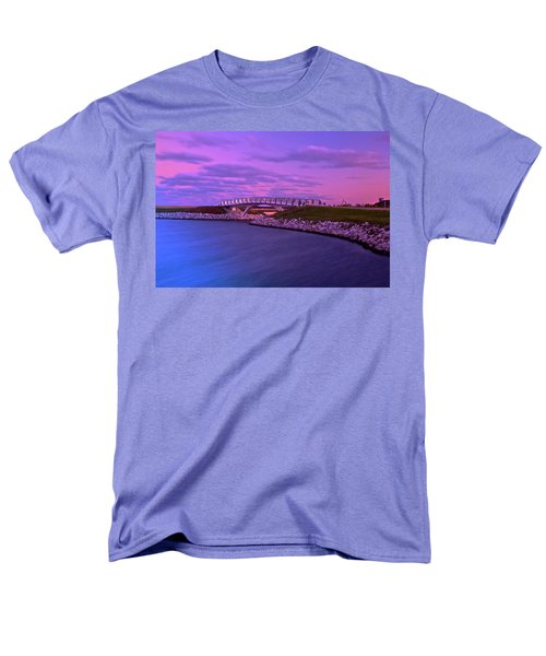 Men's T-Shirt  (Regular Fit) featuring the photograph The Lonely Bridge by Jonah  Anderson