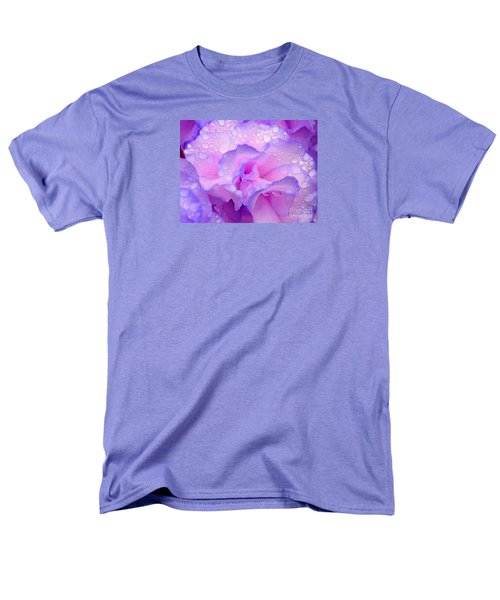 Wet Rose In Pink And Violet Men's T-Shirt  (Regular Fit) by Nareeta Martin