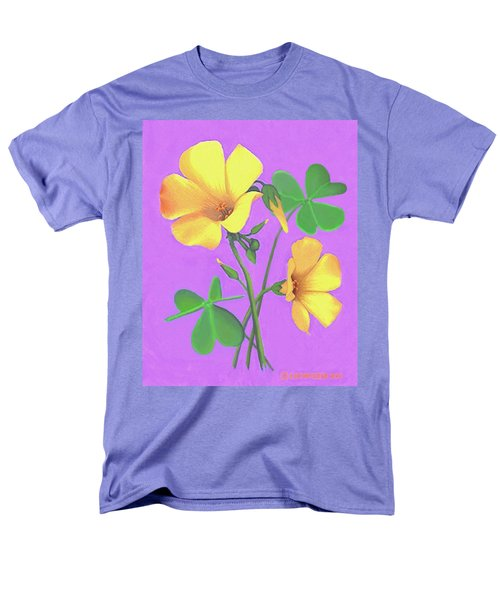 Yellow Clover Flowers Men's T-Shirt  (Regular Fit) by Sophia Schmierer