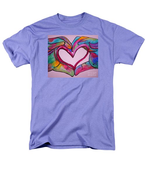 You Hold My Heart In Your Hands Men's T-Shirt  (Regular Fit) by Eloise Schneider