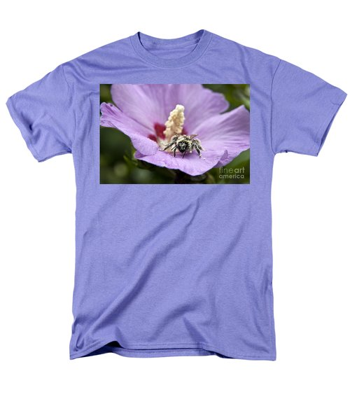 Men's T-Shirt  (Regular Fit) featuring the photograph Bee Covered In Pollen  by Jeannette Hunt