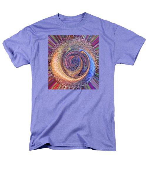 Candy Stripe Planet Men's T-Shirt  (Regular Fit) by Richard James Digance
