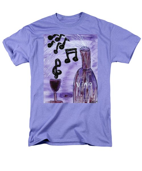 Music In My Glass Men's T-Shirt  (Regular Fit)