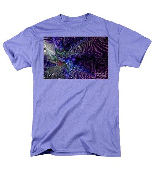 Men's T-Shirt  (Regular Fit) featuring the digital art Neon Zebra by Greg Moores