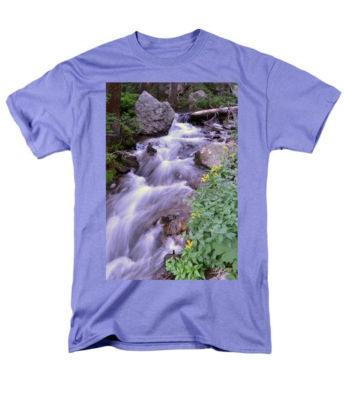 Silky Stream Men's T-Shirt  (Regular Fit) by Zawhaus Photography