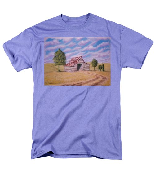 Men's T-Shirt  (Regular Fit) featuring the pastel Tractor Shed by Stacy C Bottoms