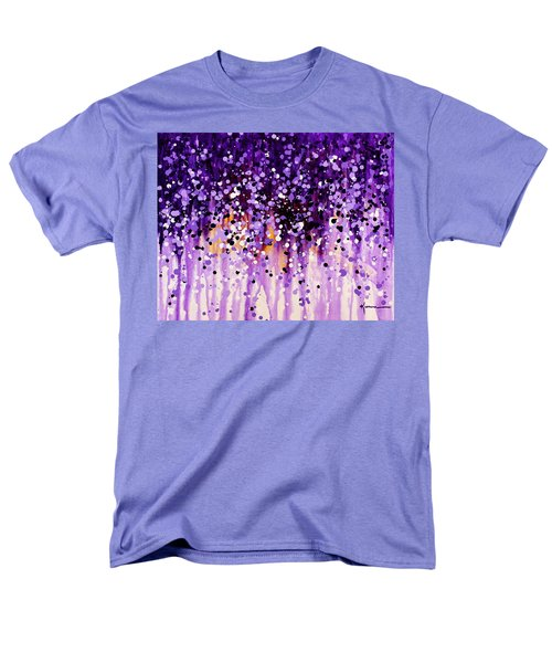 Men's T-Shirt  (Regular Fit) featuring the painting Wisteria by Kume Bryant