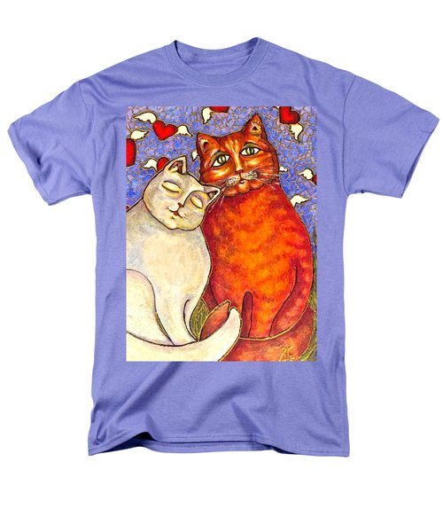Men's T-Shirt  (Regular Fit) featuring the painting Love Is In The Air by Rae Chichilnitsky