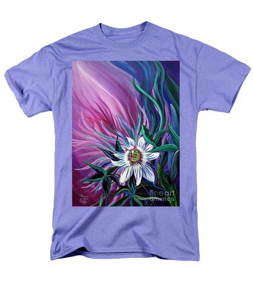 Passion Flower Men's T-Shirt  (Regular Fit) by Nancy Cupp