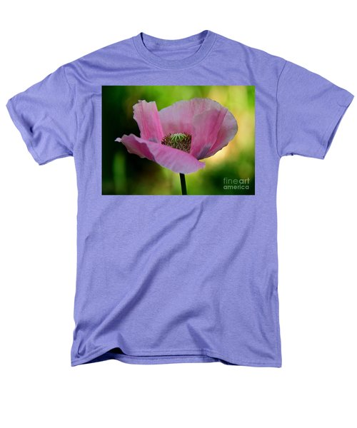 Men's T-Shirt  (Regular Fit) featuring the photograph Pink Poppy by Lisa L Silva