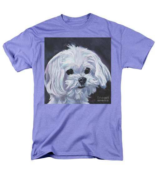 Men's T-Shirt  (Regular Fit) featuring the painting Maltese by Lee Ann Shepard
