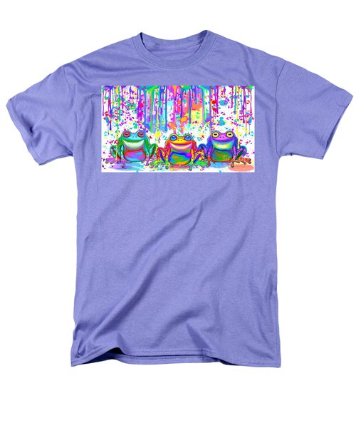 Men's T-Shirt  (Regular Fit) featuring the painting 3 Colorful Painted Frogs by Nick Gustafson