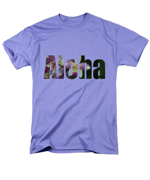 Aloha Orchids Type Men's T-Shirt  (Regular Fit) by Kerri Ligatich