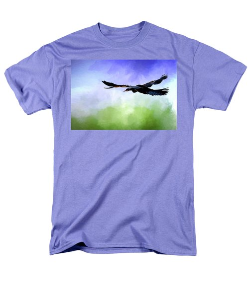 Anhinga In Flight Men's T-Shirt  (Regular Fit) by Cyndy Doty