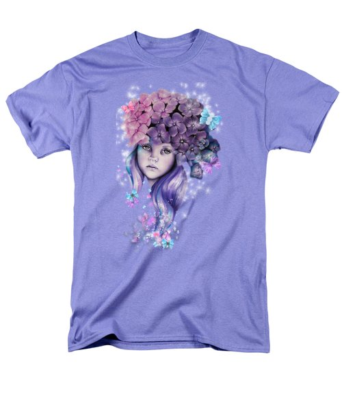 Men's T-Shirt  (Regular Fit) featuring the mixed media Hydrangea by Sheena Pike