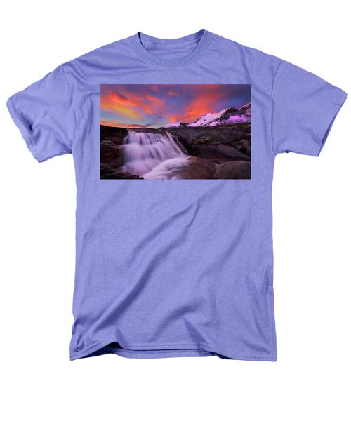 Men's T-Shirt  (Regular Fit) featuring the photograph Athabasca On Fire by Dan Jurak