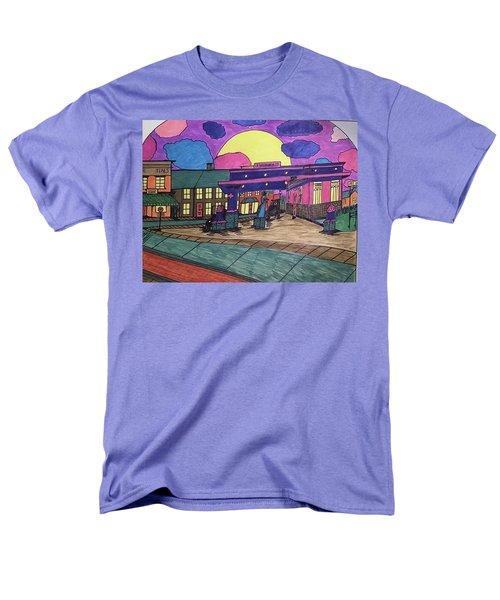 Barkhausen Filling Station. Men's T-Shirt  (Regular Fit) by Jonathon Hansen