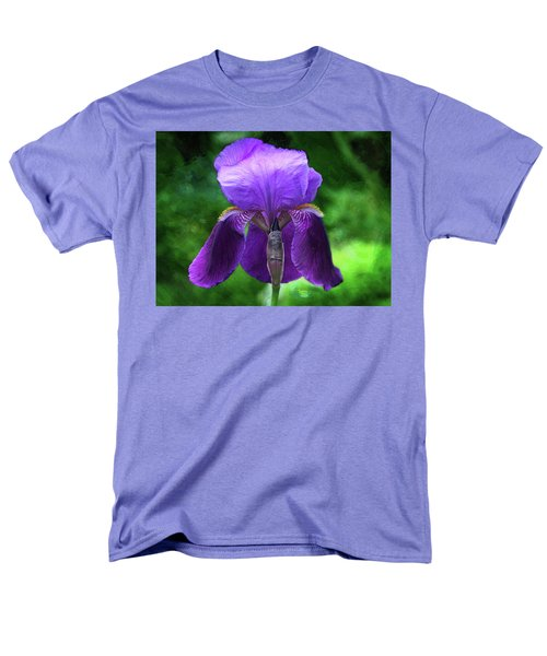 Beautiful Iris With Texture Men's T-Shirt  (Regular Fit) by Trina Ansel