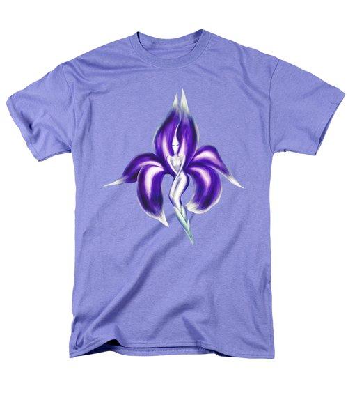 Beautiful Purple Dancing Lady Flower Artistic Illustration Art Photo Print Men's T-Shirt  (Regular Fit) by Awen Fine Art Prints