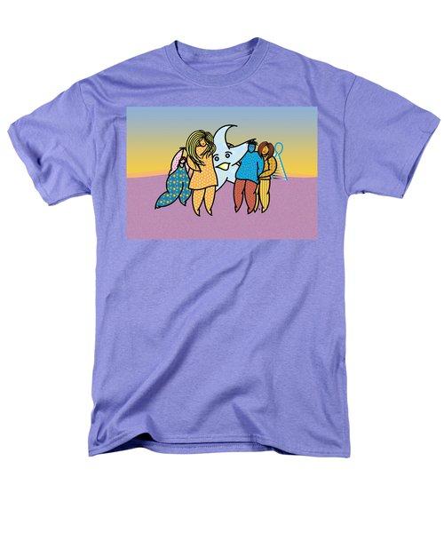 Blue Star Men's T-Shirt  (Regular Fit) by Steve Ellis