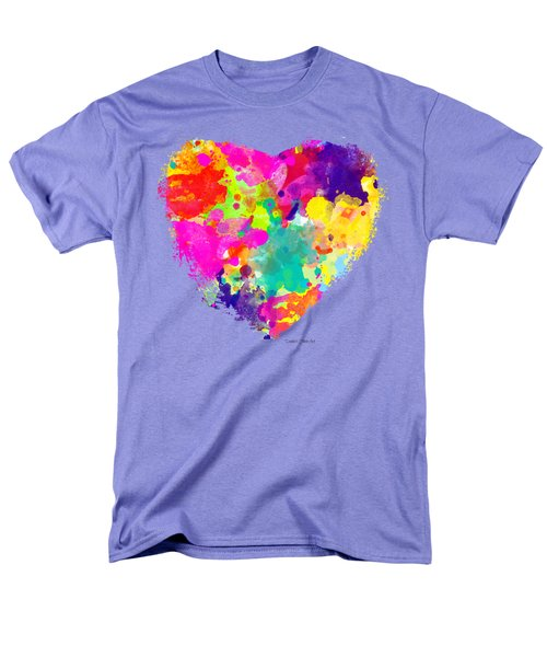 Bold Watercolor Heart - Tee Shirt Design Men's T-Shirt  (Regular Fit) by Debbie Portwood