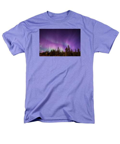 Men's T-Shirt  (Regular Fit) featuring the photograph Canadian Northern Lights by Serge Skiba