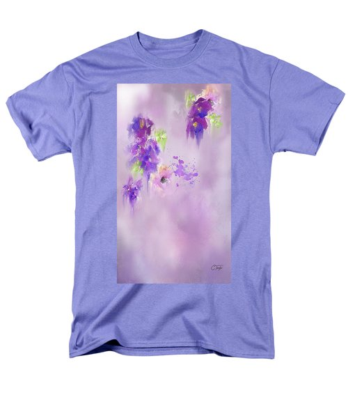 Cascading Orchids Men's T-Shirt  (Regular Fit) by Colleen Taylor