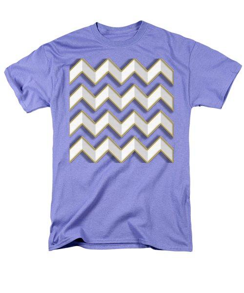 Men's T-Shirt  (Regular Fit) featuring the digital art Chevrons - Gold Edges by Chuck Staley