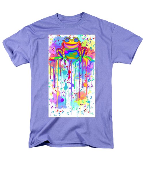 Men's T-Shirt  (Regular Fit) featuring the painting Colorful Painted Frog  by Nick Gustafson