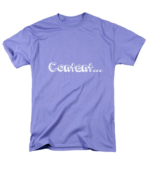 Content Men's T-Shirt  (Regular Fit) by Inspired Arts