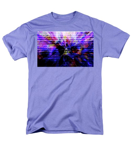 Cracked Abstract Blue Men's T-Shirt  (Regular Fit) by Carol Crisafi