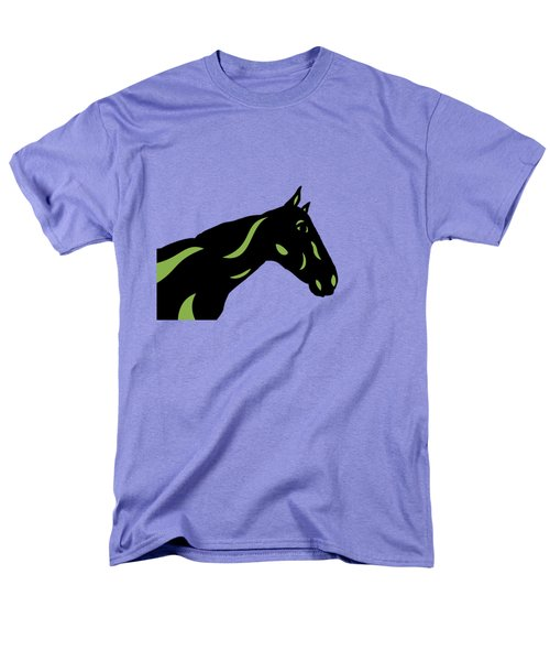 Crimson - Pop Art Horse - Black, Greenery, Purple Men's T-Shirt  (Regular Fit) by Manuel Sueess