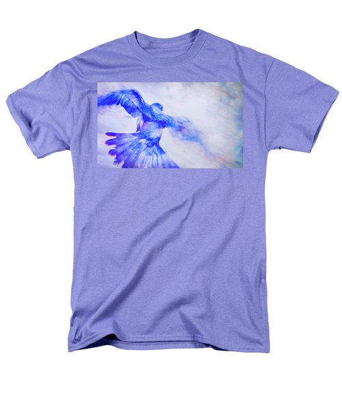 Men's T-Shirt  (Regular Fit) featuring the photograph Crow In Flight by Theresa Tahara