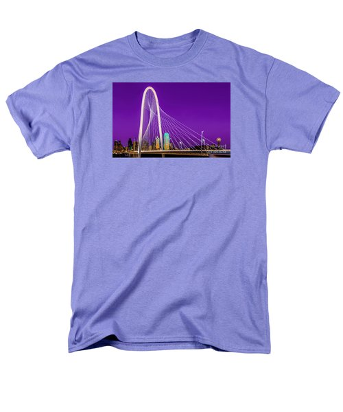 Dallas Skyline Purple Men's T-Shirt  (Regular Fit) by John Roberts