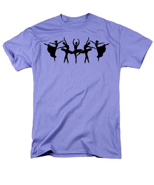 Dancing Ballerinas Silhouette Men's T-Shirt  (Regular Fit) by Irina Sztukowski