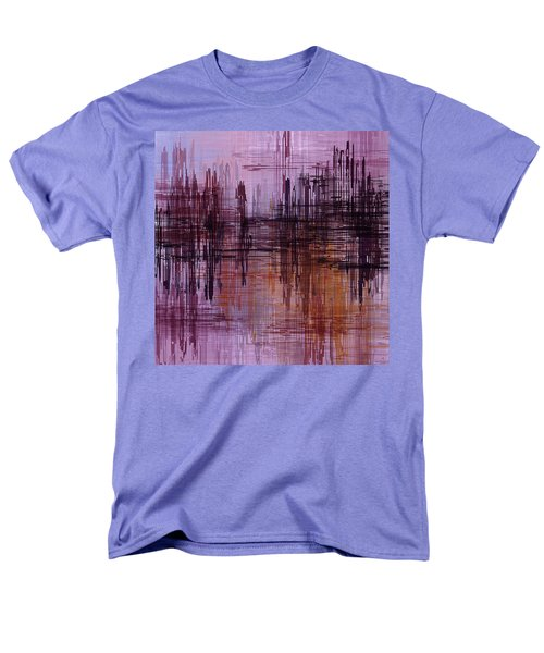 Men's T-Shirt  (Regular Fit) featuring the painting Dark Lines Abstract And Minimalist Painting by Ayse Deniz
