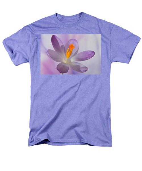Delicate Spring Crocus. Men's T-Shirt  (Regular Fit) by Terence Davis
