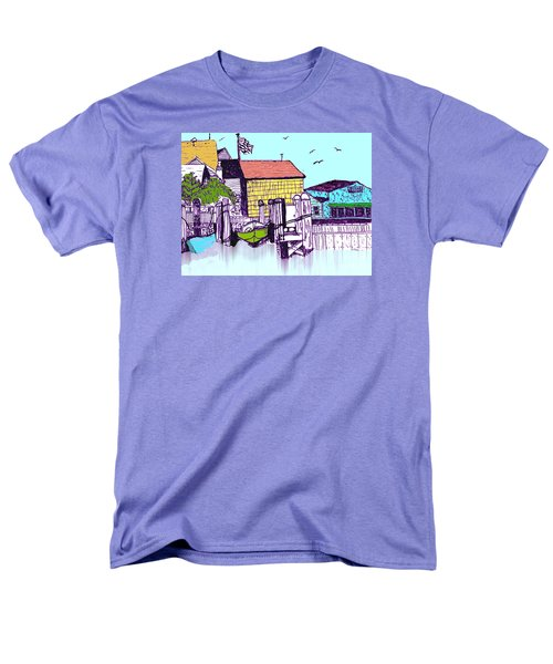 Dockside - Watercolor Sketch Men's T-Shirt  (Regular Fit) by Merton Allen