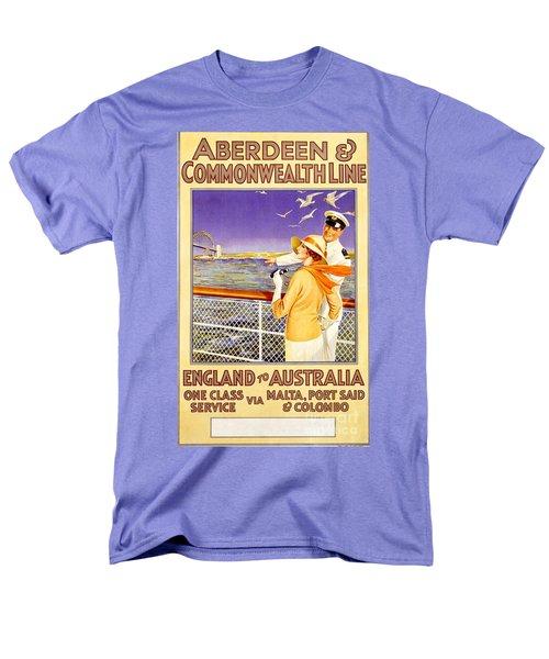 England To Australia Men's T-Shirt  (Regular Fit) by Nostalgic Prints